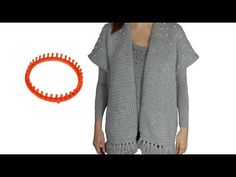 Tricotin - Poncho Gilet loose avec perles / Loom Knitting - YouTube