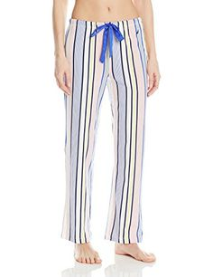 Nautica Sleepwear Women s Knit Multi Stripe Ankle Pant 47dfef1d1