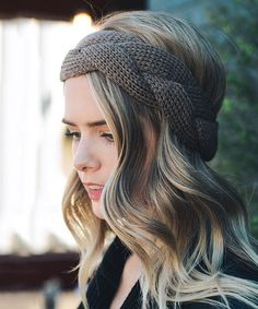Look what I found on #zulily! Mocha Braided Knit Headband #zulilyfinds