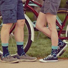 Matching socks for summer bike rides. Matching Socks, Bike Rides, 5 Kids, Asymmetrical Design, Navy Blue Color, Knitting Socks, Converse Chuck Taylor, High Top Sneakers, Bubbles