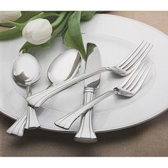Forged from 18/10 stainless steel, this durable flatware set is designed to look pristine for every occasion. This set includes 65-pieces making it ideal for any special occasion.
