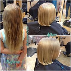 Kids have transformations too! Summer ready for this cutie! By Chelsea!  www.changesaregood.com