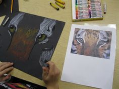 The Art Room at The Falcon Academy of Creative Arts: 5th grade art  Grid drawing