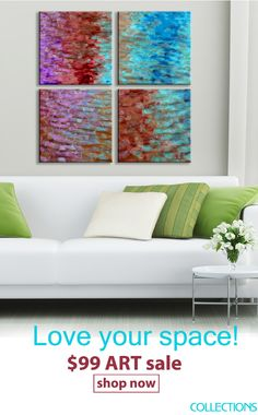 Water Collection, Square Art, White Space, Cool Art, Awesome Art, Hanging Art, White Walls, Art For Sale, Color Pop