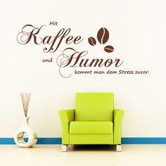Inspirational Wandtattoo Kaffee Humor Gr x cm von wandtattoo loft via dawanda