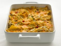 Healthified Chicken Tortilla Casserole  (change up the soup for greek yogurt and poultry seasoning)