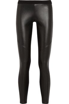 MICHAEL Michael Kors Stretch faux leather and jersey leggings | NET-A-PORTER