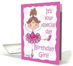 Cute Ballerina Birthday card