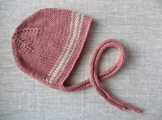 READY TO SHIP///Hand Knit Baby Bonnet in Terra