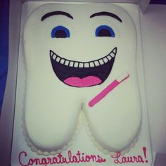 My dental hygiene graduation cake!!! #dentalhygiene #dhgraduation