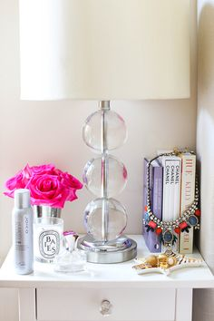 We just love this nightstand... next to a comfy, cozy yet stylish cotton bed, of course! : )