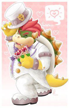 Bowser felice - Super Mario Odyssey by PandaManu.deviantart.com on @DeviantArt