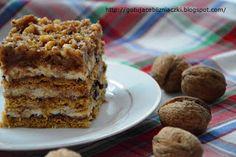 Cooking Twins: Miodownik z orzechami Baking Recipes, Cake Recipes, Food Cakes, Pavlova, Tiramisu, Sweet Tooth, Recipies, Food And Drink, Sweets