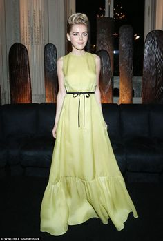 Kiernan Shipka in Valentino at the Valentino Spring 2016 afterparty on October 6, 2015 #PFW
