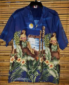 514ca8a4 Aloha Tiki Hawaiian Shirt XL Ukelele Grass Skirt Winnie Fashions |  Clothing, Shoes &