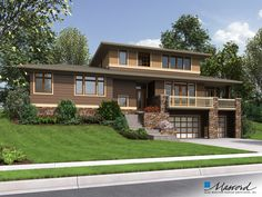ePlans Prairie Style House Plan – Contemporary With Prairie Style Appeal – 2737 Square Feet and 3 Bedrooms from ePlans – House Plan Code Two Story House Plans, House Plans And More, Family House Plans, Contemporary Style Homes, Contemporary House Plans, Modern House Plans, Craftsman Exterior, Craftsman House Plans, Craftsman Style