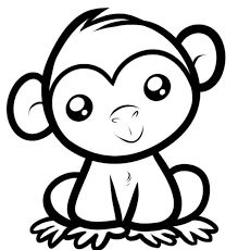 cute monkey coloring page printable animal coloring pages of - Monkey Coloring Pages