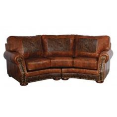 Cameron Ranch Conversation Sofa - Antiquity Ember & Cosmopolitian Tooled Leathers