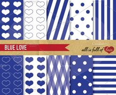 Navy Blue Background Patterns by All is full of Love on @creativemarket