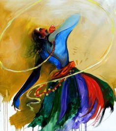 Sardar Jadhav Indian Contemporary Art, Shiva Art, Indian Artist, International Artist, Indian Paintings, Tribal Art, Cool Art, Canvas Art, Arts And Crafts