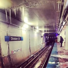 Frozen Subway Station in US during Cold Polar Vertex Situation  For more travel Updates/Offers and Interesting Stuffs be connected to  Travel Universally