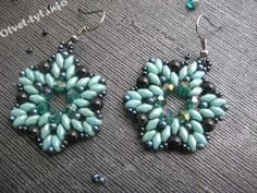 "FREE: Earrings ""Heavenly Star"" with beads and SuperDuo"