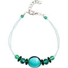 Martick Bon Bon Murano Glass Bracelet ($32) ❤ liked on Polyvore featuring jewelry, bracelets, green, murano glass bead jewelry, murano glass jewelry, green jewellery, beads jewellery and beaded bangles