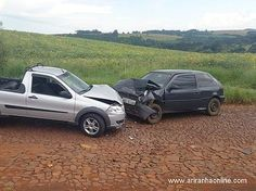 BLOG DO MARKINHOS: Acidente entre Gol e Fiat Strada deixa dois ferido...