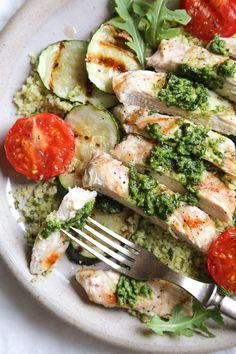 Grilled Pesto Chicken Couscous Bowls | Skinnytaste