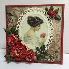 Everlasting Ink: Red Roses Cameo Card - by Anne Harada for Heartfelt Creations
