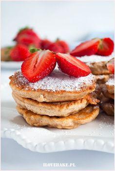 placuszki owsiane Crepes, Pancakes, Muffins, Dessert Recipes, Breakfast, Sweet, Food, Drink, Diet