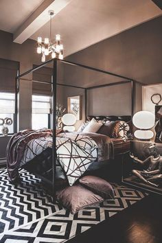 Master Bedroom Ideas Blog brings you design inspiration through a curated selection of black master bedrooms for a mysterious, sexy and sophisticated interior   http://masterbedroomideas.eu