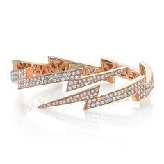 DIAMOND LIGHTNING BOLT CUFF