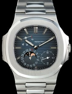 Patek Philippe 5712/1a Nautilus Moonphase & Power Reserve Stainless Steel 40mm #PatekPhilippe #LuxuryDressStyles