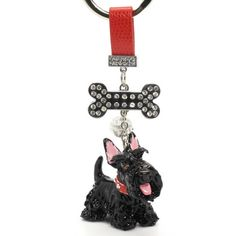 SCOTTISH TERRIER GIFTS: Scottish Terrier Polymer Clay Keyring