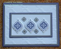 handmade card ... Mosaic Madness suite of elements arranged in a pretty pattern ... Stampin' Up!