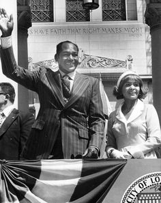 May 29, 1973: Tom Bradley voted 1st African-American Mayor of Los Angeles. Photo comes from the Los Angeles Public Library photo archive.