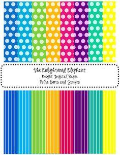 Polka Dots Galore and free printable paper