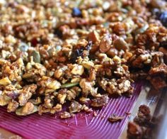 Easy grain free, gluten free, dairy free, and refined sugar free granola! Tastes like it shouldn't be healthy, but it is!
