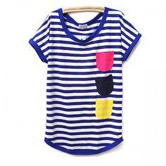 Colored pocket T-shirt