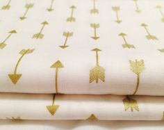 White U0026 Gold Arrow Fitted Crib Sheet Or Diaper Changing Pad Cover All  Cotton Fitted Crib Sheet And Diaper Chaging Pad Cover