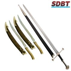 Anduril Sword & Legolas Knives #Anduril #swords