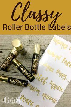 Classy Vinyl Labels For Roller Bottles / Stickers For Essential Oil Blends Got Oil Supplies