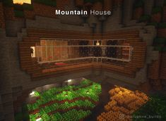 Minecraft Mountain House, Minecraft House Plans, Minecraft Cottage, Minecraft Mansion, Cute Minecraft Houses, Minecraft Houses Survival, Minecraft House Tutorials, Minecraft House Designs, Amazing Minecraft