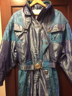 Vintage 80's 90's SPYDER Snow Ski Suit Bib Coat Jacket Snowsuit  #Spyder