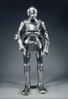 Field Armor in Maximilian Style, c. 1510-1515 Germany, Augsburg(?), early 16th century fluted steel with leather straps, Overall - h:170.20 cm (h:67 inches). Cleveland Museum of Art
