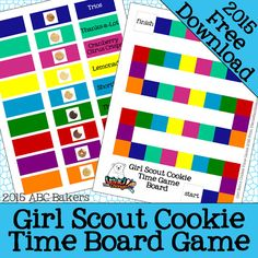 Girl Scout Cookie Time Game 2015 - includes the new gluten free Trios