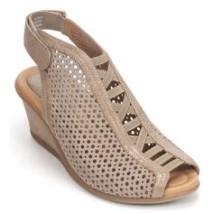 Earthies Earth Calla Womens Suede Mesh Wedge Heel Shoe | Simons Shoes