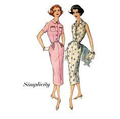 1950s Sheath Dress Pattern Simplicity 2092 Bust 36 by CynicalGirl, $16.00