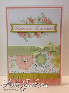 Birthday card using Stampin Up Apothecary Accents stamp sets & Sweet Sorbet dsp.